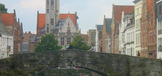 Canals in Bruges.