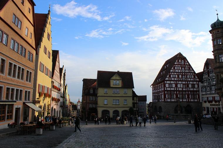 The medieval town of Rothenburg ob der Tauber.
