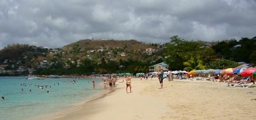 Grand Anse Beach.