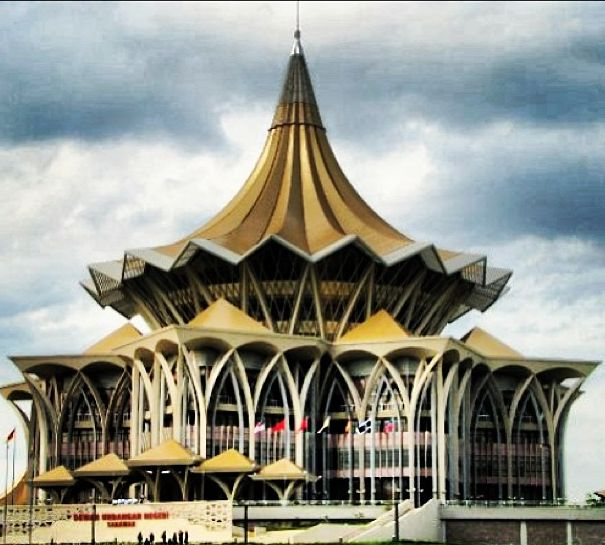 Parliament building in Kuching, Malaysia
