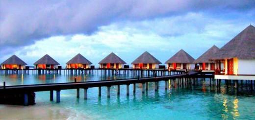 Water villas in Raa Atoll.