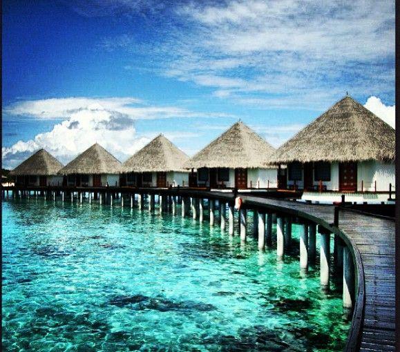 Water villas in the Maldives