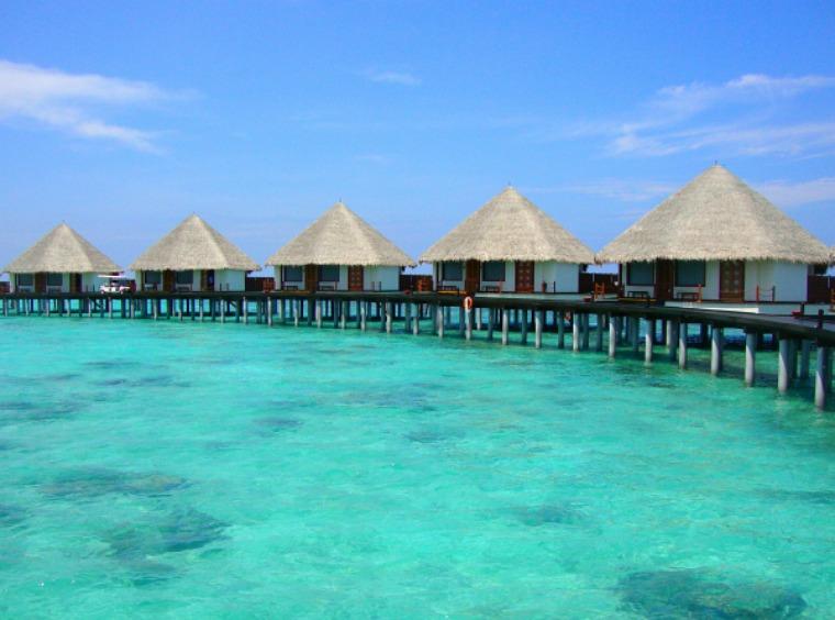 Water villas.