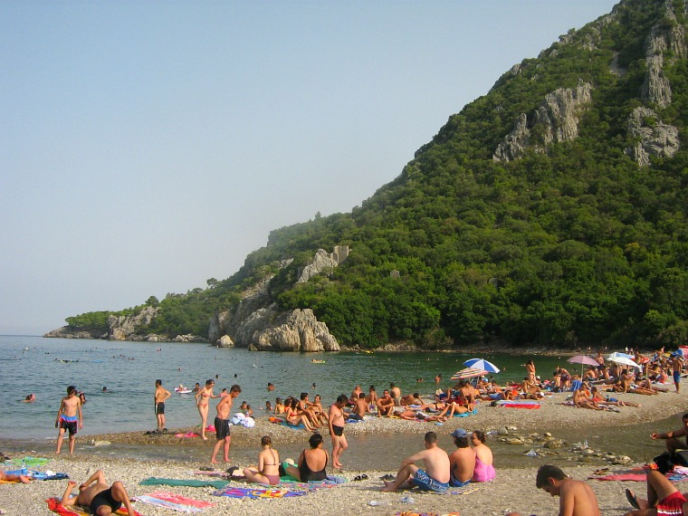 The beach at Olympos.