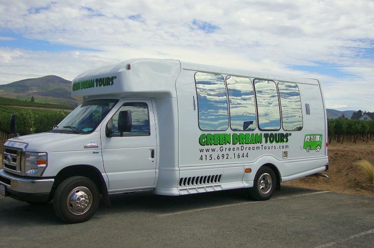 Green Dreams Tour Bus.