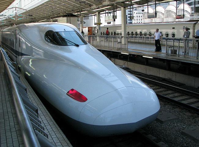 A shinkansen, or bullet train.