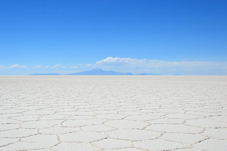 The stunning Uyuni Salt Flats.