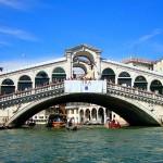 The Rialto Bridge.
