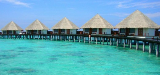 Water villas in the Maldives.