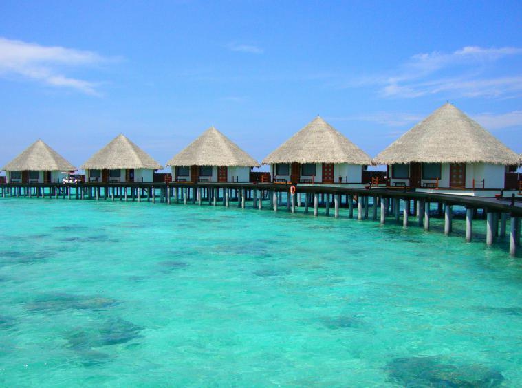Water villas in the Maldives.