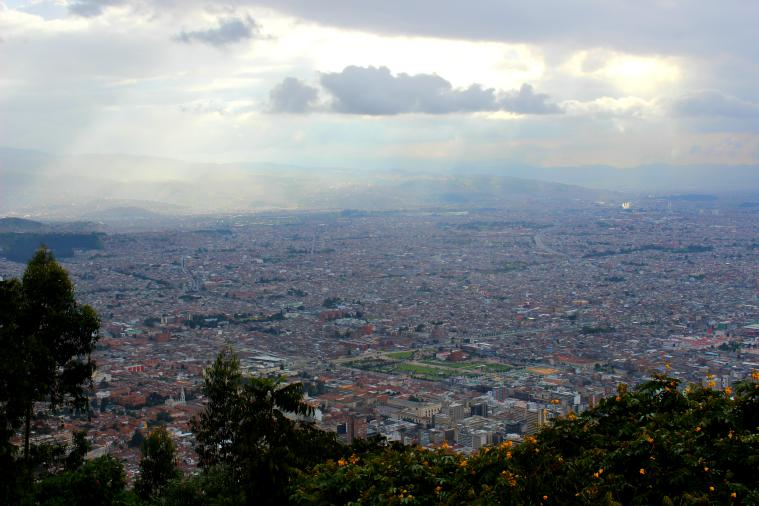 The view of Bogota from Monserrate.