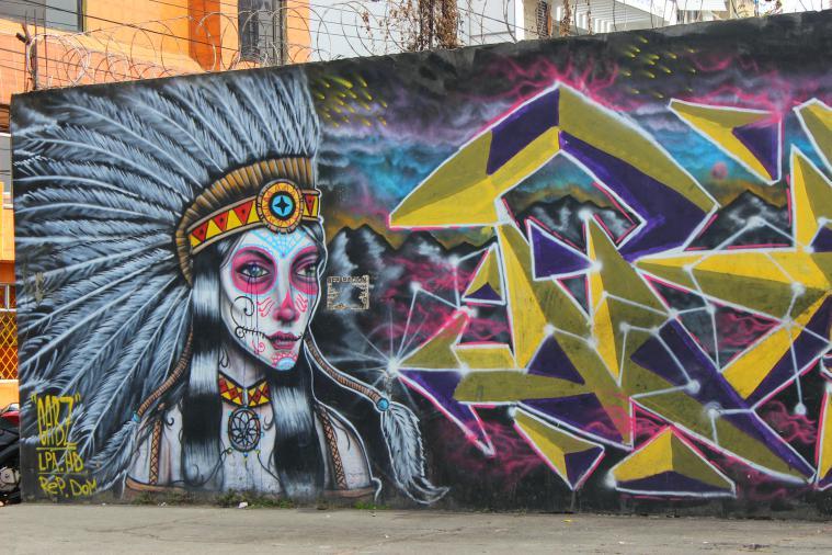 Graffiti in Bogota.