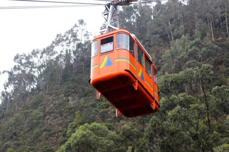 The Teleifirico heading up to Monserrate.
