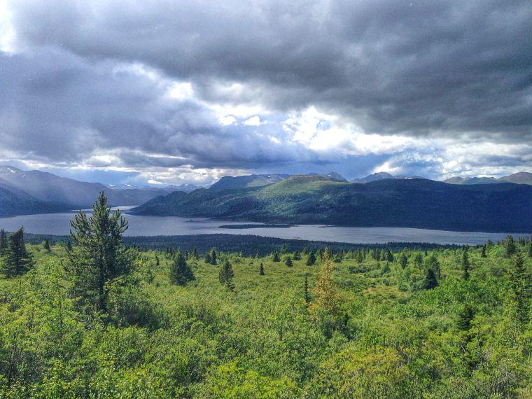 Fish Lake in Yukon.