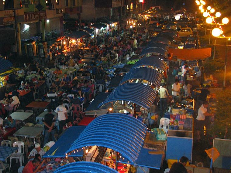 Food stalls in Kuching.