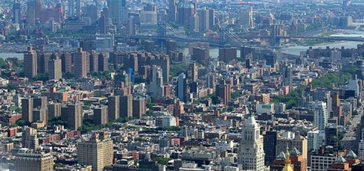 New York City, as seen from the Empire State Building.