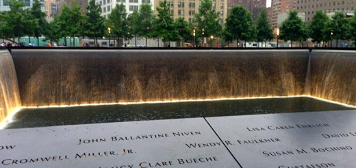 Part of the World Trade Center Memorial.