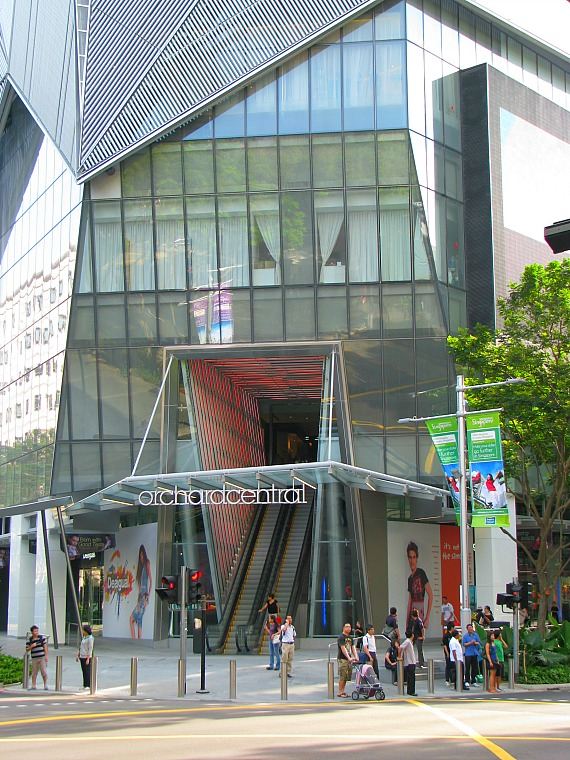 Orchard Road shopping district.