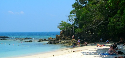 Pulau Sapi beach.