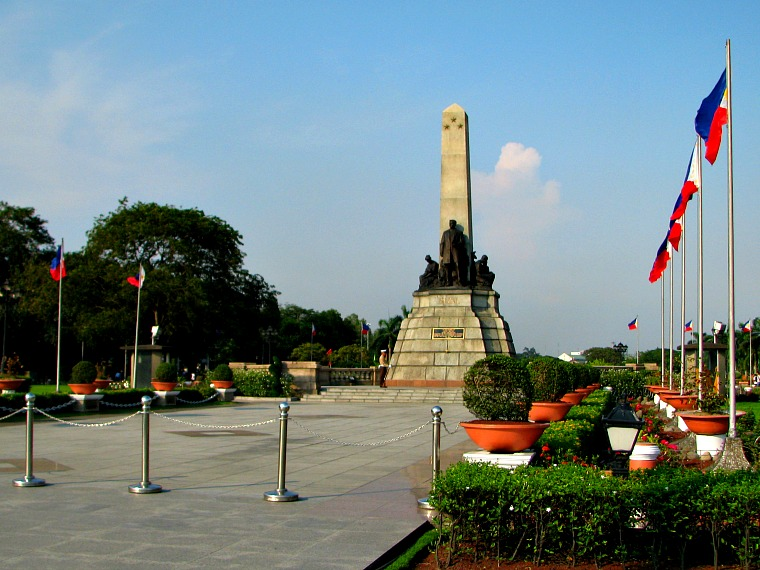 Rizal Park. manila philippines