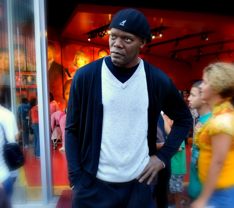 Not quite Samuel L. Jackson. madame tussads wax museum hollywood
