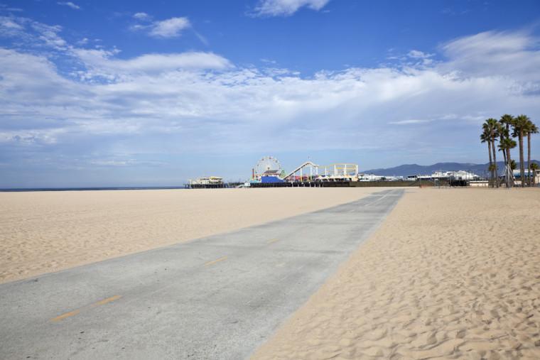 Santa Monica beach. Shutterstock.