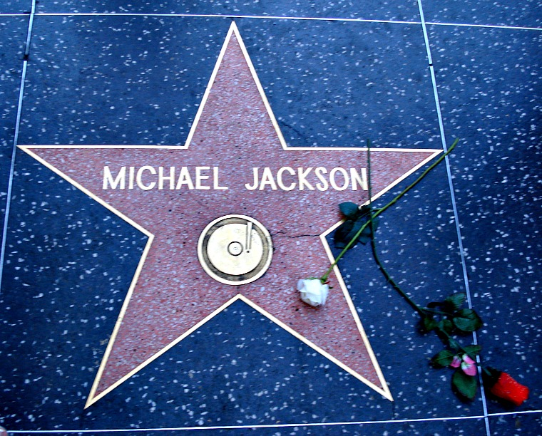 hollywood walk of fame michael jackson los angeles