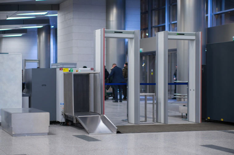 An airport security screening area. Courtesy of Shutterstock.