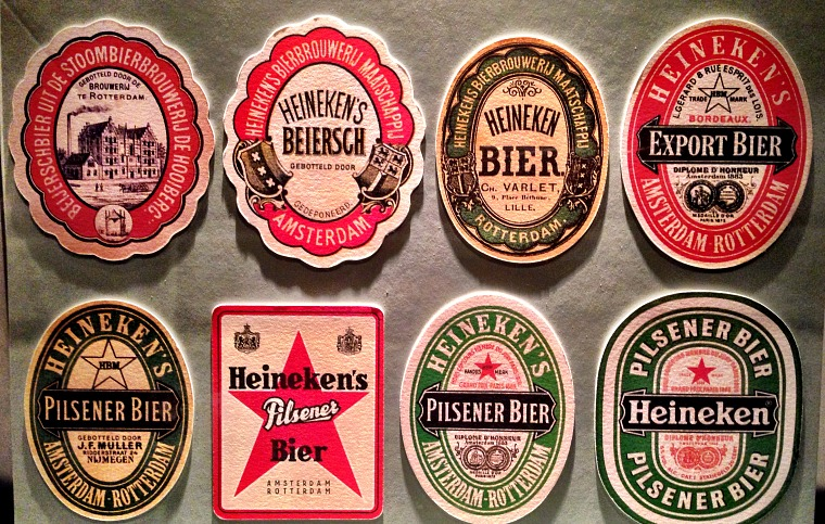 netherlands-amsterdam-heineken-beer-labels