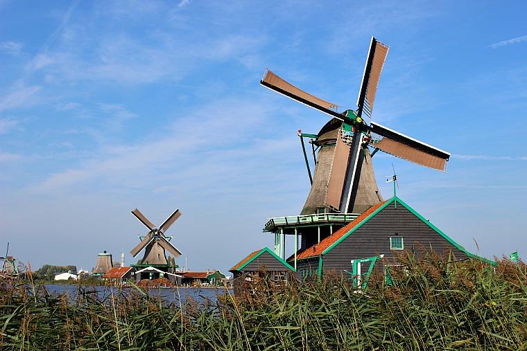 Zaanse Schans, Netherlands. windimills