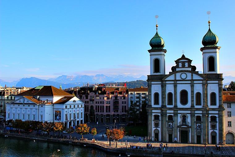 Lucerne, Switzerland. jesuit church