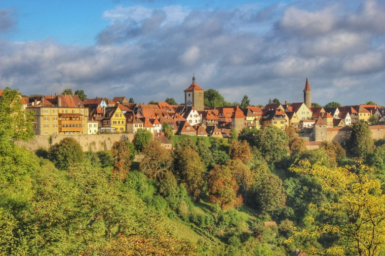 The medieval town of Rothenburg ob der Tauber, Germany