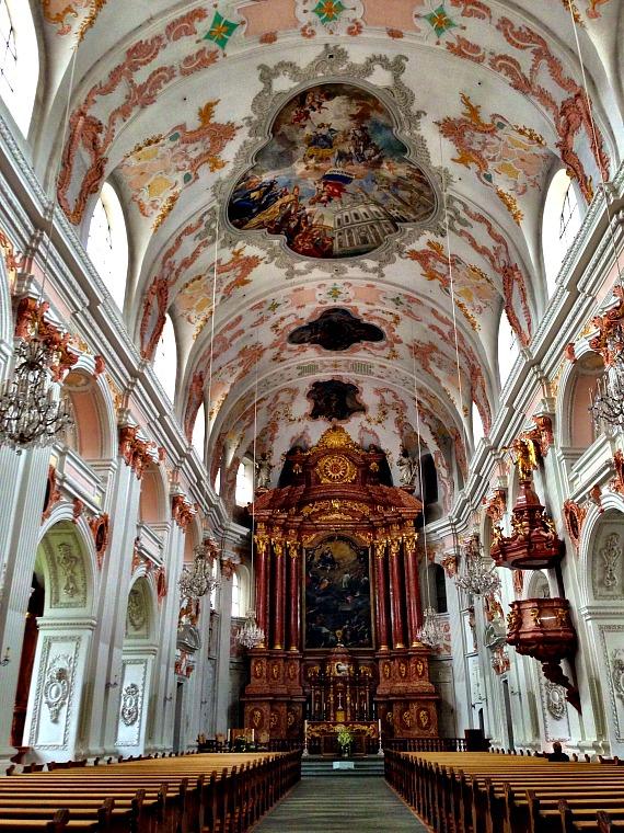 Jesuit Church. lucerne switzerland