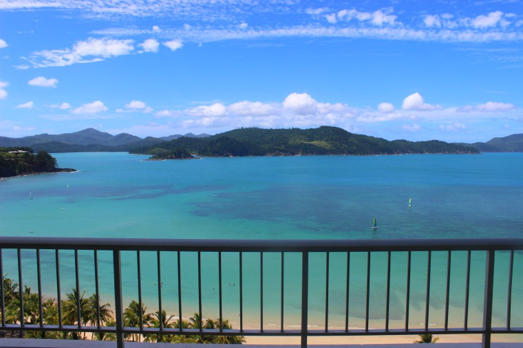 The amazing view from Whitsunday Apartments.
