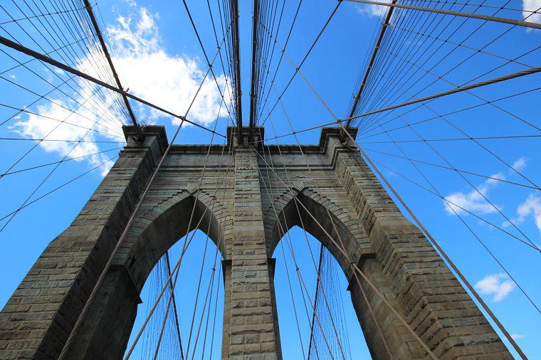 The one landmark I managed to see- the Brooklyn Bridge!