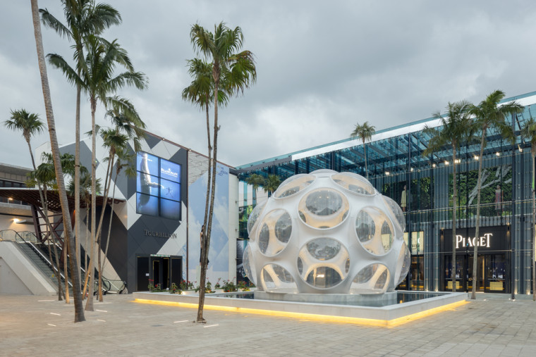 Buckminster Fuller, Fly's Eye Dome within the Miami Design District. Mr Interior/Shutterstock.com