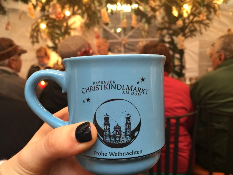 European Christmas market gluhwein
