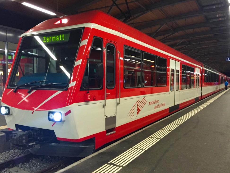 Zermatt Switzerland train