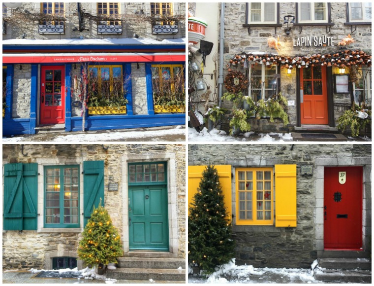 quebec-city-doors-Collage