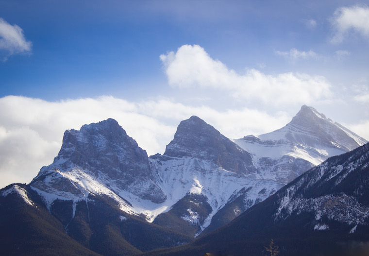 The Three Sisters in Canmore, Alberta