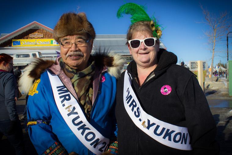 Sam and Kelly Johnston, who were named Mr & Mrs Yukon 2016