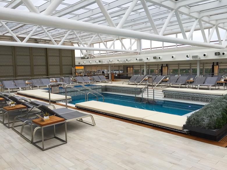 The pool area on Viking Star