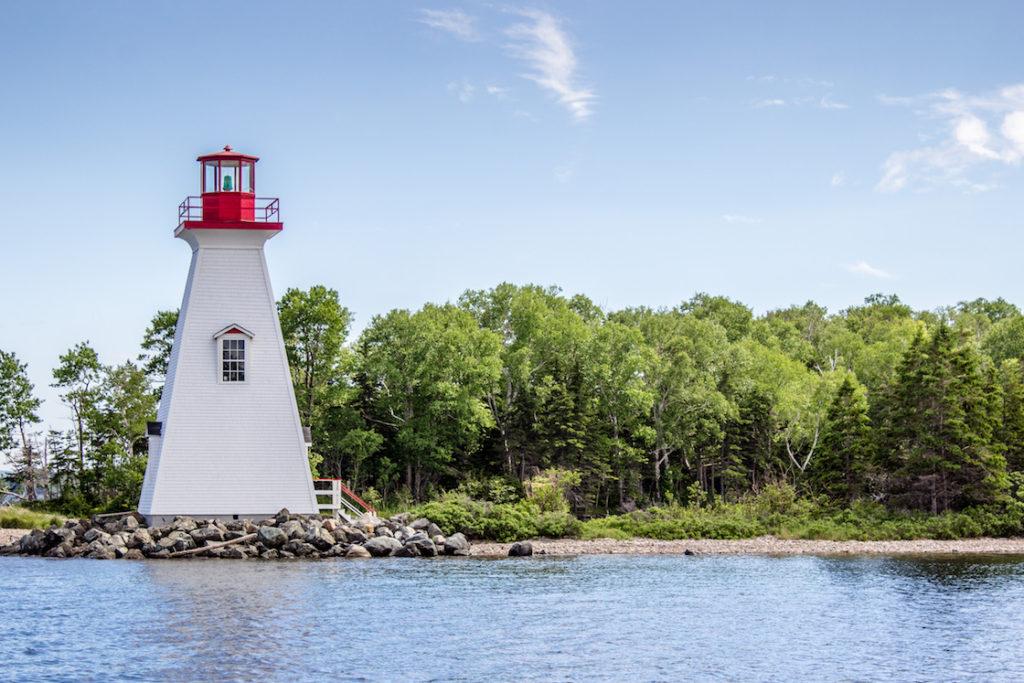 A lighthouse in Baddeck