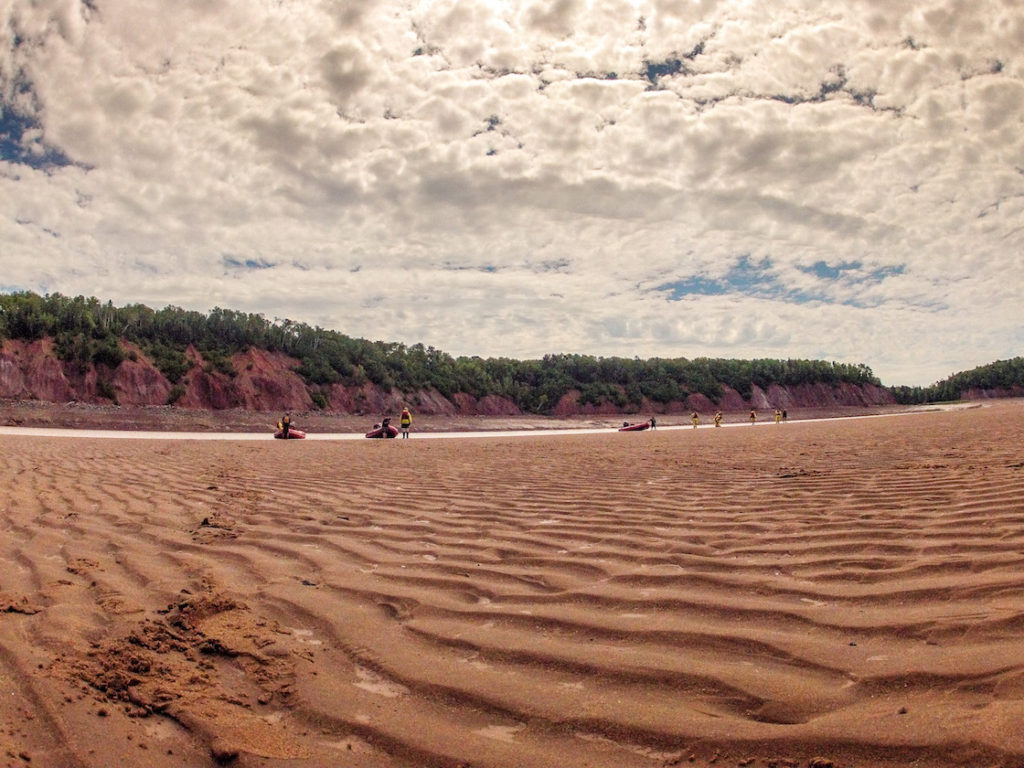 Tidal bore rafting in Nova Scotia, Canada