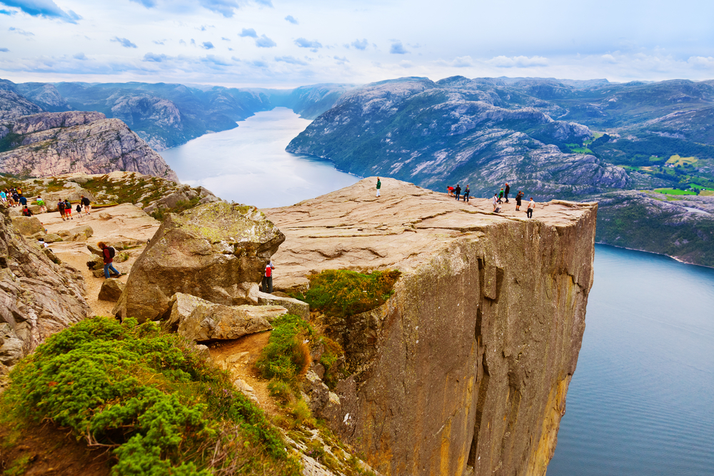 Pulpit Rock as seen from above. Courtesy of Shutterstock