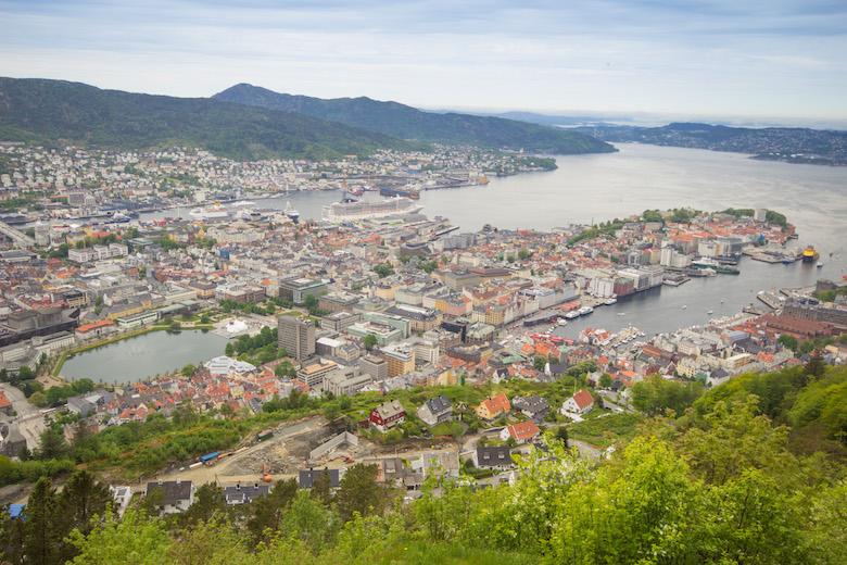 Mount Fløyen in Bergen, Norway
