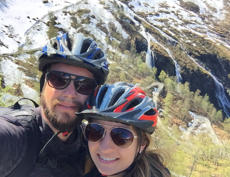 Cycling near Flam, Norway