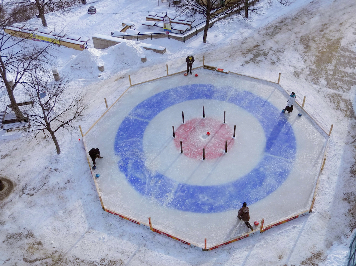 Playing Crokicurl in winnipeg, Manitoba