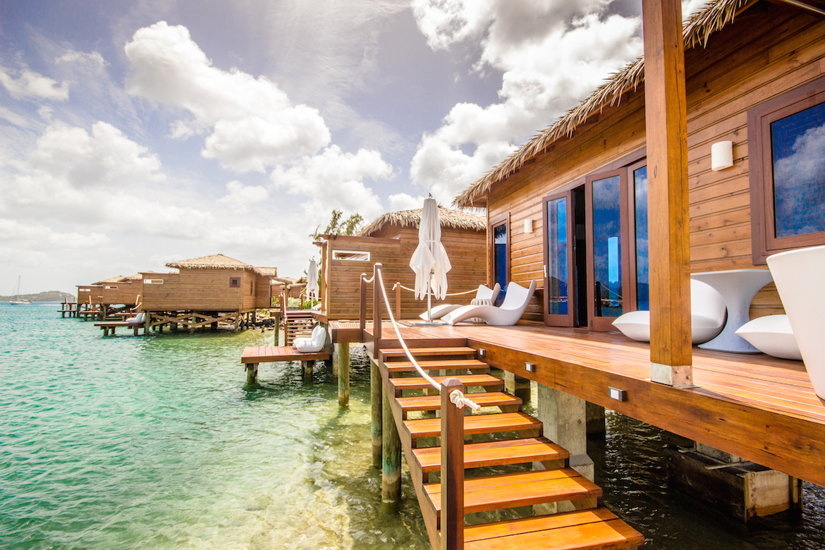 Overwater bungalow at Sandals Grande St. Lucian